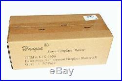 Hongso GFK-160 Stove Fireplace Blower Fan KIT with Ball Bearings Motor for Heat