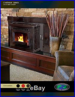 Hudson River Stove Works Pellet Stove Fireplace Insert Model CHATHAM