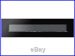 Ignis Royal 95 inch Electric Fireplace with Crystals, Remote Control, 750W-1500W