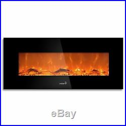Ivation Electric Fireplace 50 Built In 1500-W Heater-Realistic LED Flames Mount