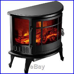 KUPPET 23 Electric Fireplace Stove 1500W Heater Realistic Flame Adjustable