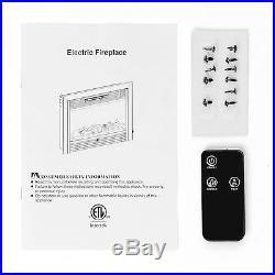 KUPPET Embedded 28.5 Electric Insert Heater Fireplace Log Flame with Remote View