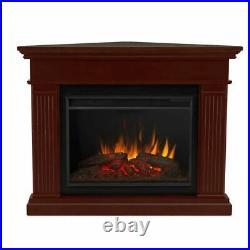 Kennedy Grand Corner Electric Fireplace Dark Walnut