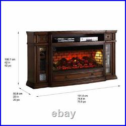 Klamath 75 Media Fireplace Smart Touch screen