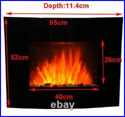 LED Backlit Fireplace Electric Wall Mounted Fire Place Heater 1800W