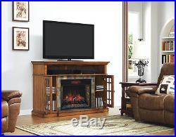 Lakeland Infrared Media Console in Premium Oak