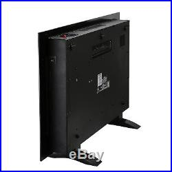 Large 1500W Electric Fireplace Wall Mount Heater with Remote Control Adjustable
