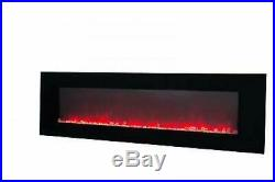 Large 60 inch Wall Mount Electric Fireplace Remote Color Changing Flame Heater