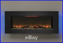 Large Wall Mounted Electric Fireplace Insert Mount Color Changing Flame Heater