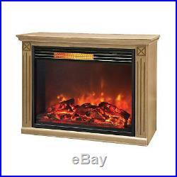 LifeSmart Large Room Infrared Fireplace, Honey Oak
