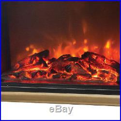 Lifesmart Big Room Electric Infrared Quartz Fireplace Heater w Remote, Light Oak