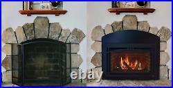 Majestic Ruby 35 Direct Vent Natural Gas Insert with Remote Control & Log Set