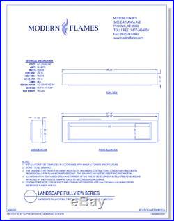 Modern Flames 80 Landscape Fullview Electric Linear Fireplace