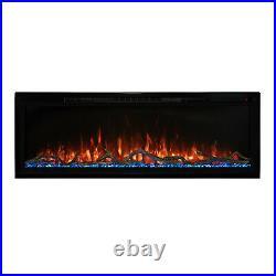 Modern Flames Spectrum Slimline Wall Mount/Built-In Electric Fireplace, 74-Inch