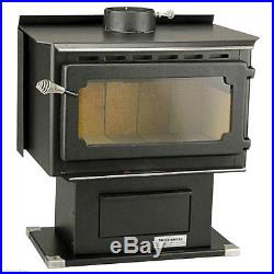 Mountaineer Wood Burning Stove Indoor Fireplace with Blower Vogelzang