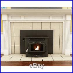 Multi Fuel Fireplace Heater Insert Corn & Pellet 60 LBS Capacity Hopper