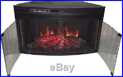 Muskoka 33 Curved Glass Front Electric Heater Fireplace Insert Low Profile