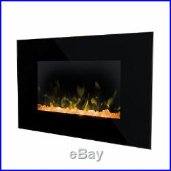NEW Dimplex Toluca Optiflame Electric Wall Mount Fire 4 Colours Fuel Bed 2kW