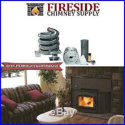 Napoleon 1402 Fireplace Insert & 6x15' Chimney Liner Kit, Door & Insulation Kit