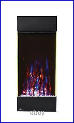 Napoleon Allure Series Vertical Wall Mount/Built-In Electric Fireplace, 16 x 38