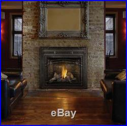 Napoleon Hdx40 Direct Vent Gas Fireplace Wrought Iron Surround Reflective Panels