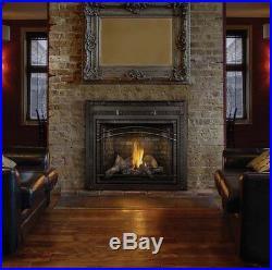 Napoleon Hdx40 Starfire Gas Fireplace Logs Black Surround Sandstone Brick Remote