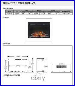 Napoleon NEFB27H-3A Cinema Series Built-In Electric Fireplace, 27 Inch