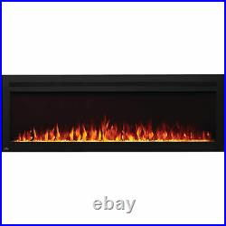 Napoleon Purview 60 Inch Linear Electric Wall Mount Fireplace, Remote (Open Box)