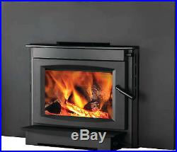 Napoleon S20i Wood Burning Fireplace Insert with Cast Iron Door & Blower Kit