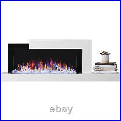 Napoleon Stylus Wall-Mount Electric Fireplace with Shelf, 59-Inch