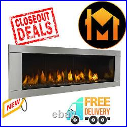 Napoleon Vector Linear Gas 62 Fireplace LHD62N with Stainless Steel Surround SALE