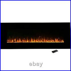 Northwest 54 Electric Fireplace Wall MountedLed Fire And Ice Flame With Rem