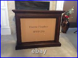Northwest 80-FPWF-1 Heat Mobile Electric Fireplace. Wheels, Remote, Faux Logs