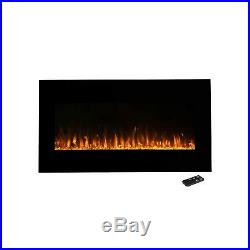 Northwest Electric Fireplace Wall Mounted, LED Fire and Ice Flame, With Remote