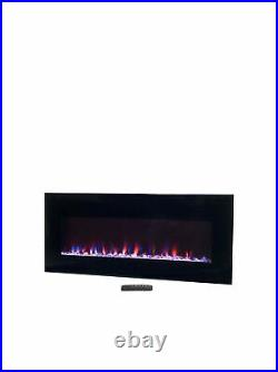 Northwest Electric Fireplace Wall Mounted, LED Fire and Ice Flame, with Remot