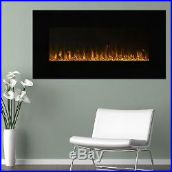 Northwest LED Electric Wall Mount Fireplace with Remote and Timer 36 Inches