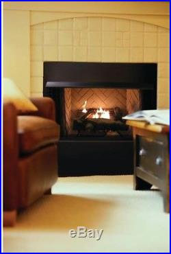 Oakwood Thermostat Control 24 Inch Vent-Free Propane Gas Fireplace Logs Burner