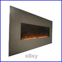 Onyx Stainless 80026 50 Wall Mounted Electric Fireplace