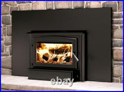 Osburn 1700 Wood Insert with Blower, Black Door & Faceplate with Trim, EPA Approved