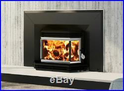 Osburn 1800 Wood Burning Stove Insert With Blower 3 Sided Bay Window