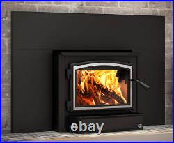 Osburn 2000 Wood Insert with Blower, Black Door & Faceplate with Trim, EPA Approved