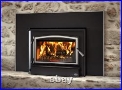 Osburn 3500 Wood Insert with Blower, Black Door & Faceplate with Trim, EPA Approved