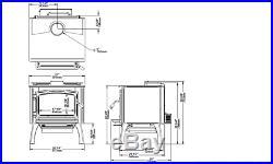 Osburn OB02015 2000 Wood Stove With Blower 75,000 BTU 8H Burn Time