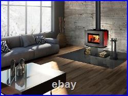 Osburn Soho Epa Wood Stove With Red Enameled Side Panels