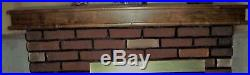 PICKUP ONLY! Faux Brick Electric Fireplace Walnut Mantle 54H x 61W x 24D