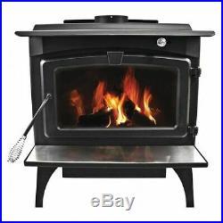PLEASANT HEARTH LWS-130291 Burning Stove, Wood, Blwr, L, 2,200 sq. Ft