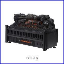 Pleasant Hearth LK-24 Electric Fireplace Logs Insert Removable Fireback & Heater