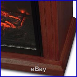 Portable Electric Fireplace Infrared Quartz Temp Control Heater Mantel Walnut