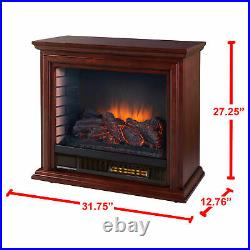 Portable Infrared Fireplace Heater TV Stand With Remote Real Flame FULLY ASSEMBLED
