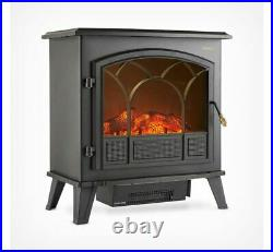 Pre-Owned 1850W Large Portable Electric Stove Heater Log Burning Effect Fire
